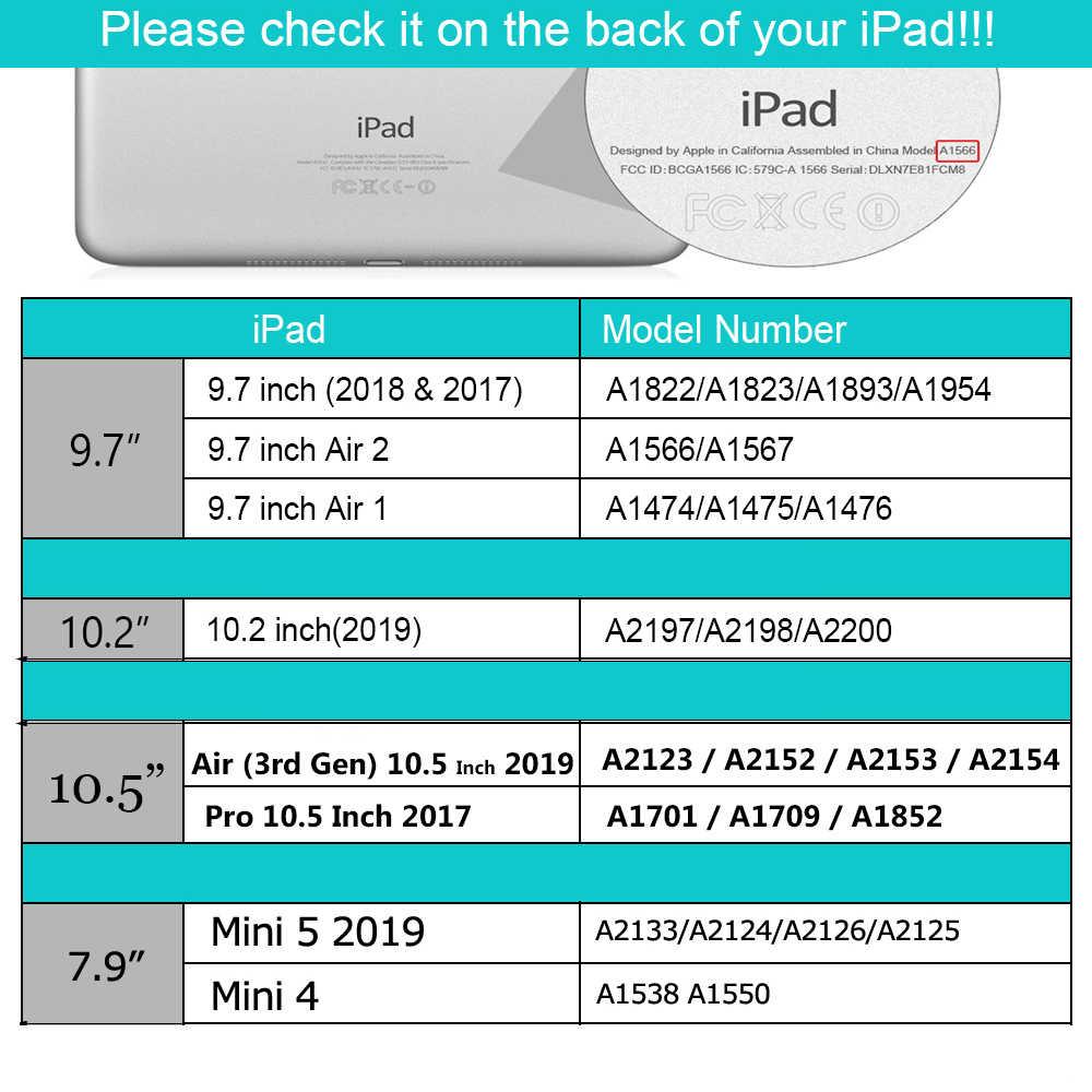 Per ipad 10.2 Caso con la Tastiera per ipad 7th generation Caso/9.7 2018/Aria 2 1 / Mini 4 Mini 5/per iPad Pro 11 2020 caso