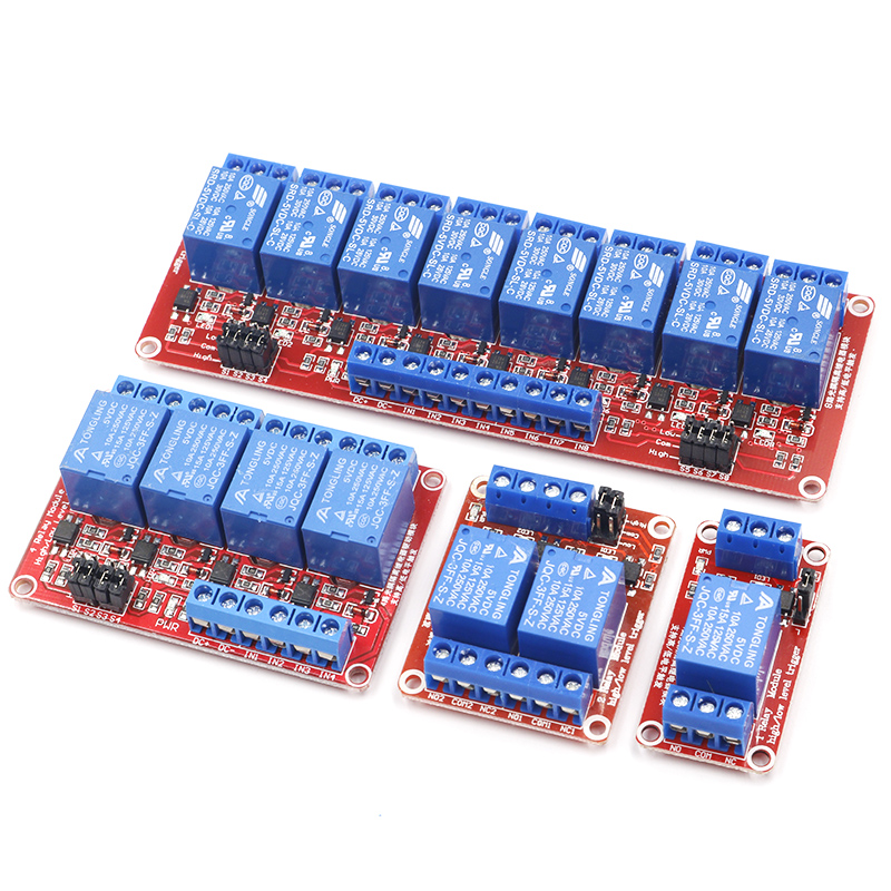 1 2 4 8 Channel 5V 12V Relay Module Board Shield with Optocoupler Support High and Low Level Trigger for Arduino