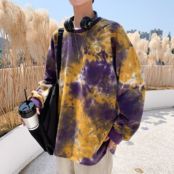 Camo Hoodies Men Fashion Tie-dyed Printed Casual Hip Hop Hoodie Man Cotton Sweatshirt Men Streetwear Wild Loose Hoody M-2XL