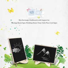 10pcs Mini Rectangle Chalkboards with Support for Message Board Signs Wedding Dinner Party Table Place Signs