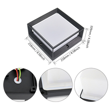20W 60 led Square Light Control Motion Sensor Led Outdoor Wall Lights Fixtures Ip65 Waterproof 3 Light Color Changeable Aluminum