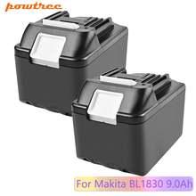 Сменный литий ионный аккумулятор powtree 18 в 9000 мАч для makita