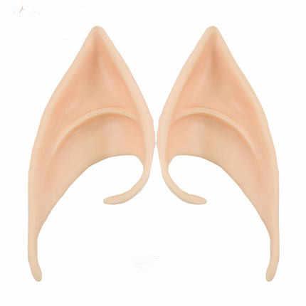 1 paio di Orecchie da Elfo fata Cos Maschera Cosplay Accessori Morbido Lattice Protesi Falso Orecchio Halloween Maschere di Carnevale