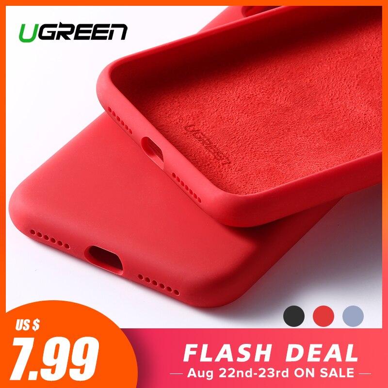 Ugreen Case Para iPhone X XS XR Caso Azul Silicone Vermelho Para A Maçã 1:1 Originais Caso do iphone X XS