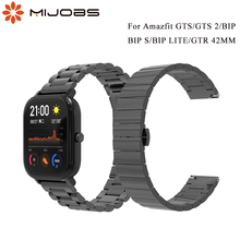 Strap for Huami Amazfit GTS 2/BIP S/LITE/GTR 42 Smart Bracelet Wristbands Metal Stainless Steel 20mm Replacement Accessories