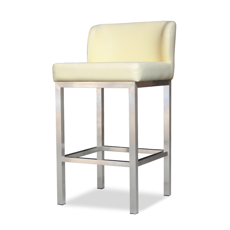 Modern Stainless Steel Bar Chair Glasses Jewellery Shop Dedicated Stool Front Desk Cashier Counter High Chair