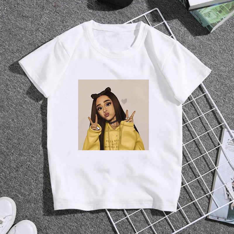 新しい夏ベビー服のファッションの女の子発泡バブルガムかわいいかわいいプリント tシャツ男の子アリアナグランデ tシャツ子供 BAL630