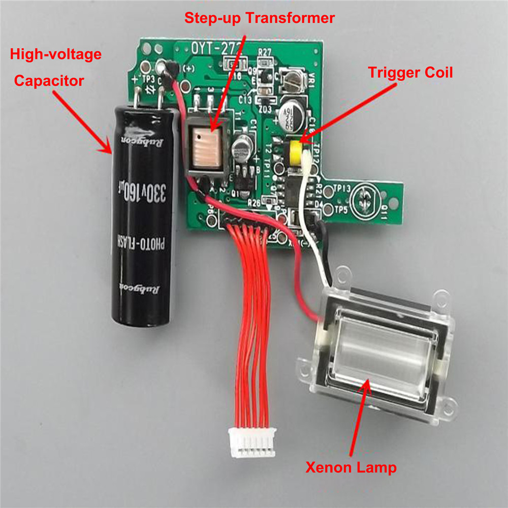 Camera Flash Circuit Board Replacement Xenon Highlight Camera Flash High-voltage Flash Photoflasher Board Repair Parts