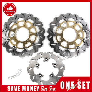 Image 1 - Arashi 1 Set For SUZUKI GSXR1000 2001   2014 CNC Front Rear Brake Disc Rotors GSXR GSX R 1000 GSX1000R 2007 2008 2009 2010 2011