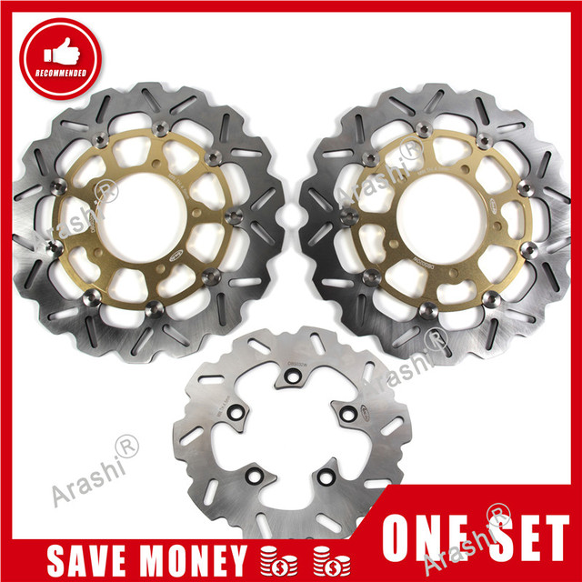 Arashi 1 Set For SUZUKI GSXR1000 2001   2014 CNC Front Rear Brake Disc Rotors GSXR GSX R 1000 GSX1000R 2007 2008 2009 2010 2011