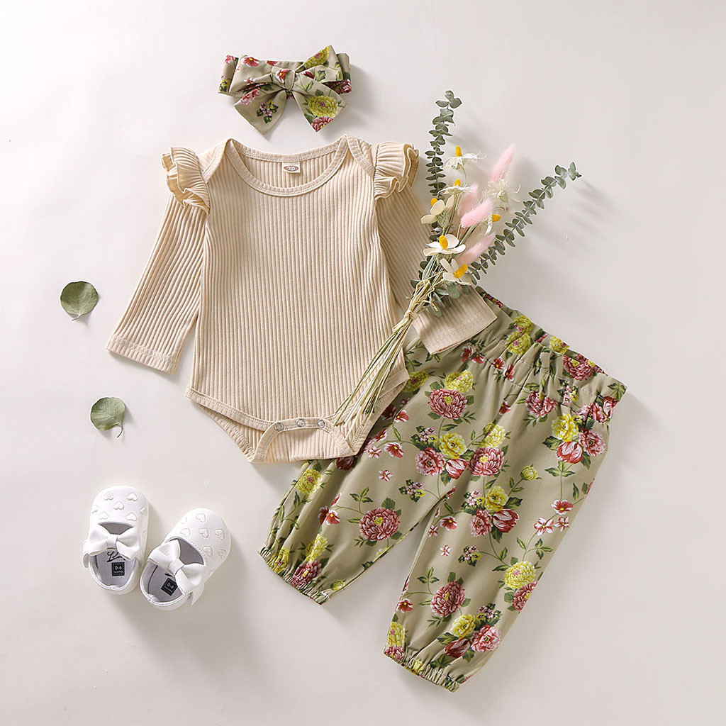 Ruffle Cuffs Shorts 2PCS Infant Girls Outfits Summer Baby Short Sets Girls Rainbow Letter Print Short Sleeve Bodysuit Tops