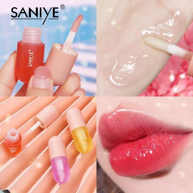 SANIYE Fruity Lip Gloss Mini Capsule Transparent Waterproof And Long Lasting Moisturizing Lip Gloss Plump Lipstick Makeup L1159 1