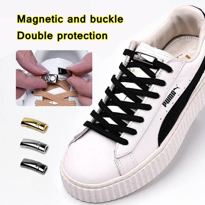 New Magnetic Shoelace Elastic Locking ShoeLaces Quick No Tie Shoe Laces Kids Adult Unisex Shoelace Sneakers Shoe Laces Strings