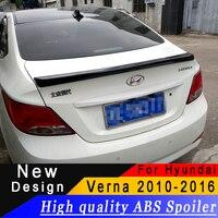 سبويلر للسيارة هيونداي فيرنا اكسنت 2010 إلى 2016 جودة عالية من مادة ABS سبويلر سيدان التمهيدي أو أي لون خلفي جناح سبويلر لفيرنا|جناح خلفي ورفرف|السيارات والدراجات النارية -