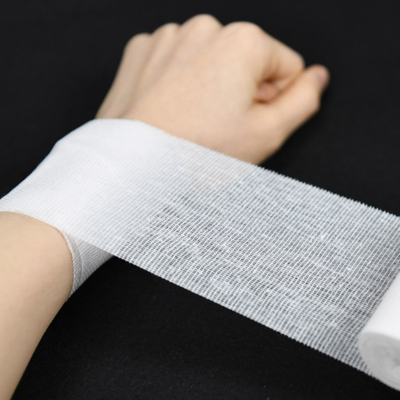 10Rolls/Lot 8cm*600cm Cotton Bandage First Aid Kit Gauze Roll Wound Dressing Medical Nursing Emergency Care Bandage