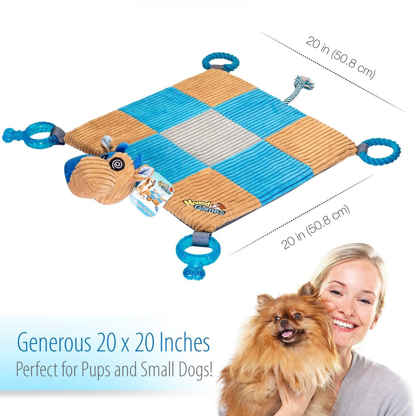 Tapis de chien de mode pour animaux de compagnie soulager le Stress jouets cordes de dentition qualité dentaire nez en peluche rembourré tapis jouets à mâcher - 5