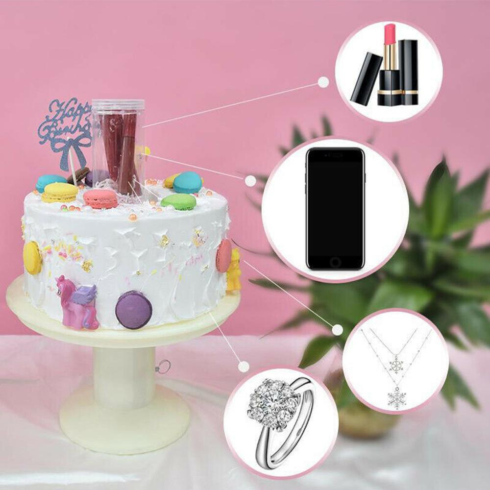 Surprise Birthday Cake Stand Spray Station Musical Popping Cake Stand Happy Birthday Cake Holder Birthday Gift 2in1 Musical
