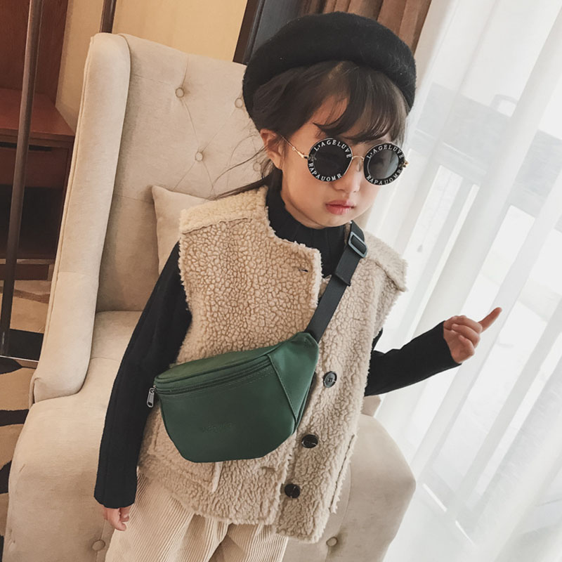 New Girl Waist Bags For Kids Chest Bag Leather Kids Fanny Pack High Capacity Funny Bags Unisex Banana Bags Shoulder Kidney Bags