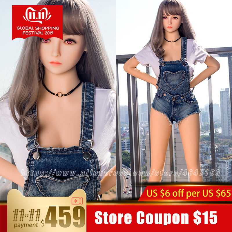 158cm Lifelike Real EU Sex Doll, Full Size Silicone with Skeleton Love Doll Adult for Men Toys Big Breast Sexy Mini Vagina-in Sex Dolls from Beauty & Health