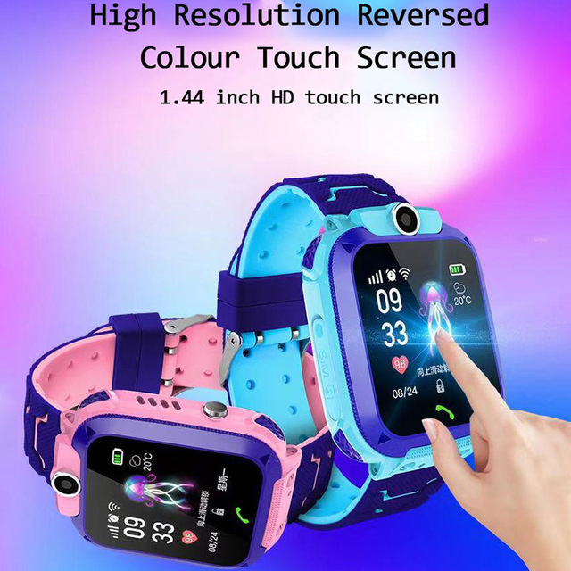 Q12 Children's Smart Watch SOS Phone Watch Smartwatch For Kids With Sim Card Photo Waterproof IP67 Kids Gift For IOS Android 3