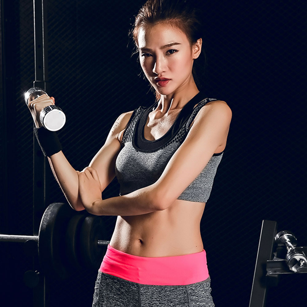 Vest Underwear Padded Bandage Sport-Bra Exercise Fitness Shockproof Two-Pieces Running