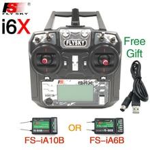 Контроллер передатчика Flysky FS i6X FS I6X 10CH 2,4G RC с приемником iA10B iA6B A8S X6B для радиоуправляемого вертолета многовинтового дрона