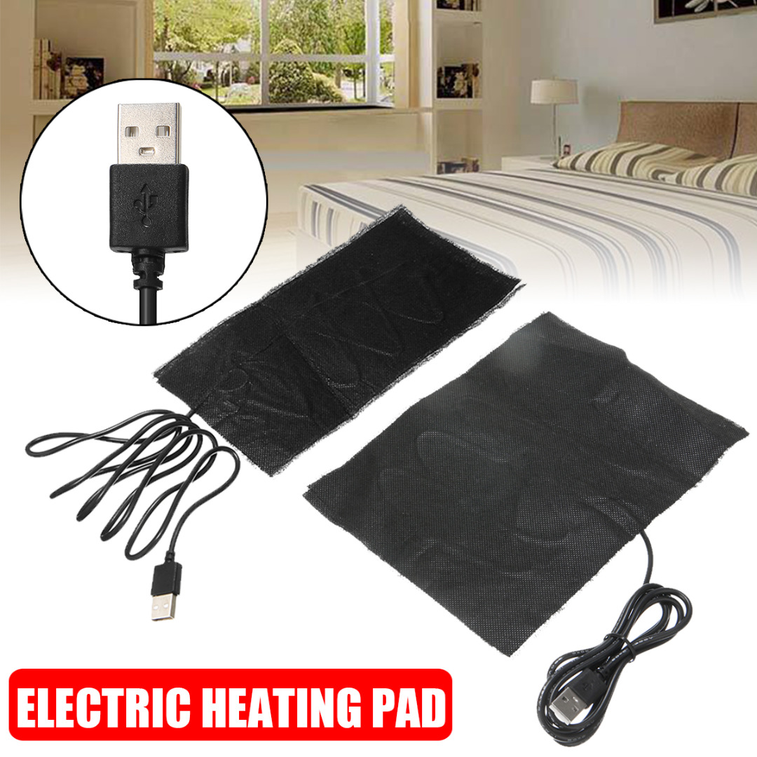 2 Sizes 5V Carbon Fiber Electric Cloth Heating Pad Hand Warmer USB Heating Film Electric Winter Infrared Fever Heat Mat