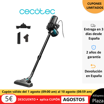 Cecotec Conga ThunderBrush, vertical vacuum cleaner 3 in 1. Model 620 without Cable. Model 520 with Cable. HEPA filter.