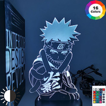 Kids Bedroom Nightlight 3d-Lamp Naruto Kakashi Hatake Xmas Gift Itachi Uchiha Anime Child