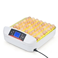 A All In One Intelligent Full automatic Egg Incubator Hatcher 56 Eggs Hatching Machine for Chicken Duck Transparent Plastic