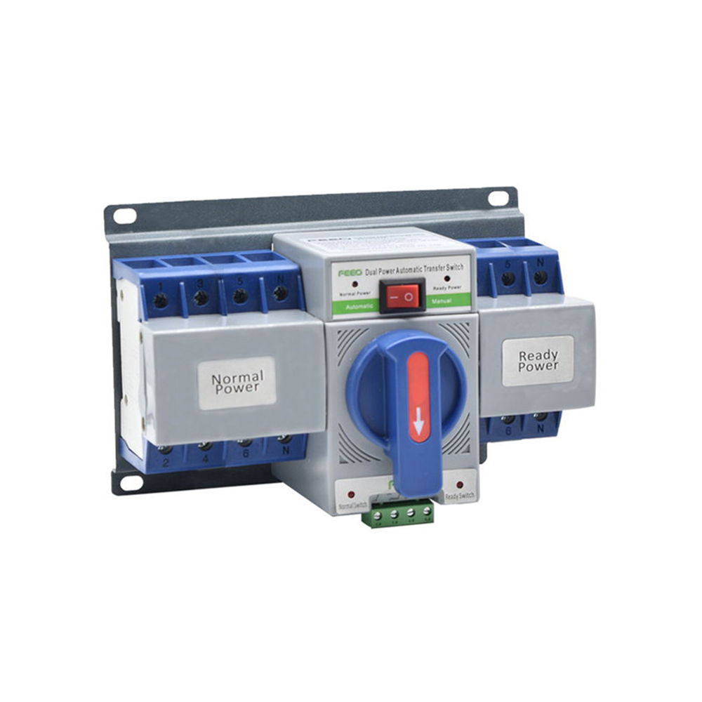 4P 63A MCB class manual auto changeover <font><b>switch</b></font> <font><b>Ats</b></font> controller automatic transfer <font><b>switch</b></font> Dual Power Automatic transfer <font><b>switch</b></font> <font><b>ATS</b></font> image