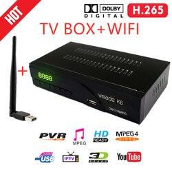 Vmade DVB T2 w ziemskim odbiornik TV receptora Tuner TV z wifi DVB T2 H.265 TV  pudełko dekoder Youtube Dolby telewizji IP odbiornik HD