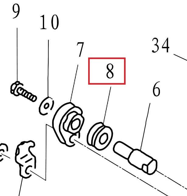 F15-07010009 Grommet Anode For Parsun HDX F8 F9.8 F9.9 F15 F20 F25 F30 F40 Outboard Motor