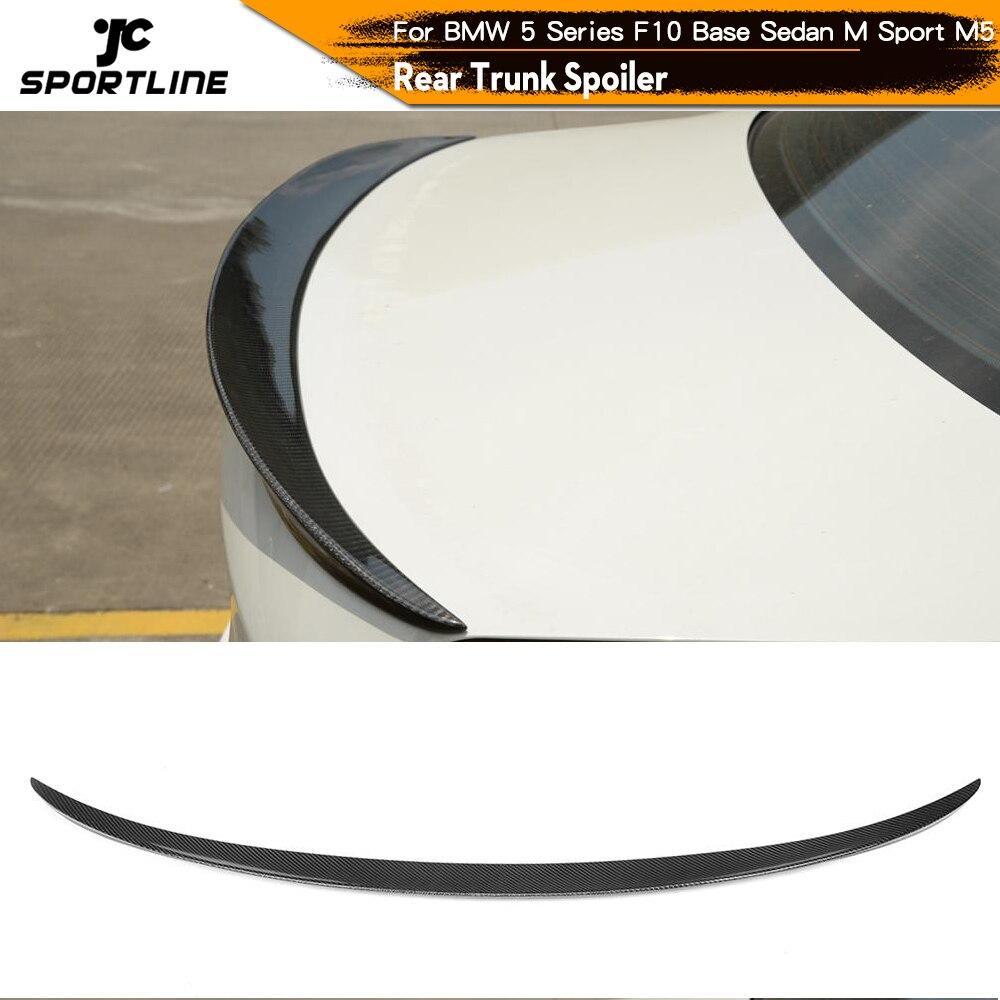 Carbon Fiber Rear Spoiler Trunk Wing for BMW F10 Spoiler 5 Series Base Sedan 520i 530i 535i M Sport M5 2011   2017 spoiler carbon fiber spoiler for bmw carbon fiber rear spoiler - title=