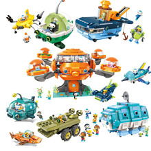 Building-Block Brick-Set Submarine Octonauts Oct-Pod Boat Children GUP with GUP-C