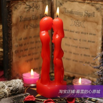 Romantic Chinese Red Candles Weddings Wax Hand Candle Spool Candle Wicks Spool Candle Wicks Wedding Decoration Candles HH50LZ