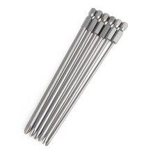 6Pcs/Set 1/4'' Shank 150mm Long S2 Steel Magnetic Hex Cross Head Screwdriver Bit