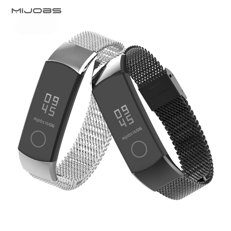 Honor Band 4 Strap For Huawei Honor Band 4 Smart Watch Accessories Milanese Metal  Steel Bracelet Replacement Band 5 Strap