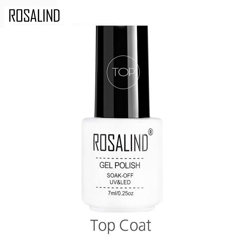 Топовое покрытие Rosalind для маникюра, стойкий Гель-лак для защиты ногтей, почти без запаха, 7 мл, УФ светодиодный ОД