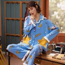 Женский милый пижамный комплект большого размера мягкий удобный