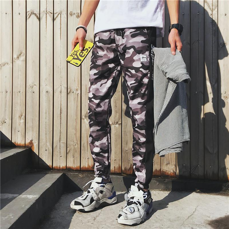 New Style 2019 Spring MEN'S Casual Pants Camouflage Wash And Wear Treatment Trousers Youth Popularity Cone Mid-rise Pants