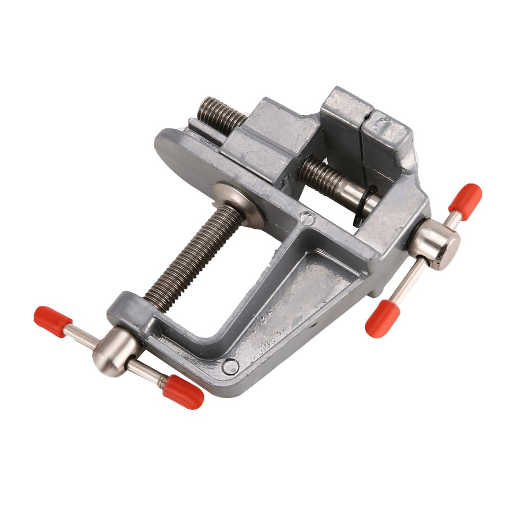 Aluminum Small Jewelers Hobby Clamp On Table Bench Vise Mini Tool Vice Muliti-Funcational Craft Mold Fixed Repair Tool