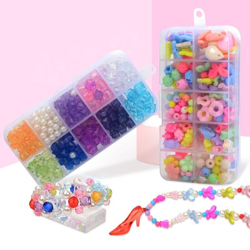 Acrylic Beads Children Bracelets For Girls Diy Toys For Children Handmade Girl Handmade Beading Acrylic Beads