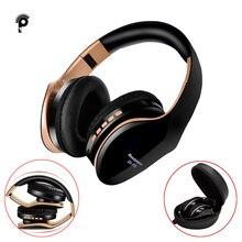 PunnkFunnk אלחוטי אוזניות V5.0 + EDR Bluetooth אוזניות עבור טלפון נייד Mp3 מתקפל סטריאו הפחתת רעש משחקי אוזניות