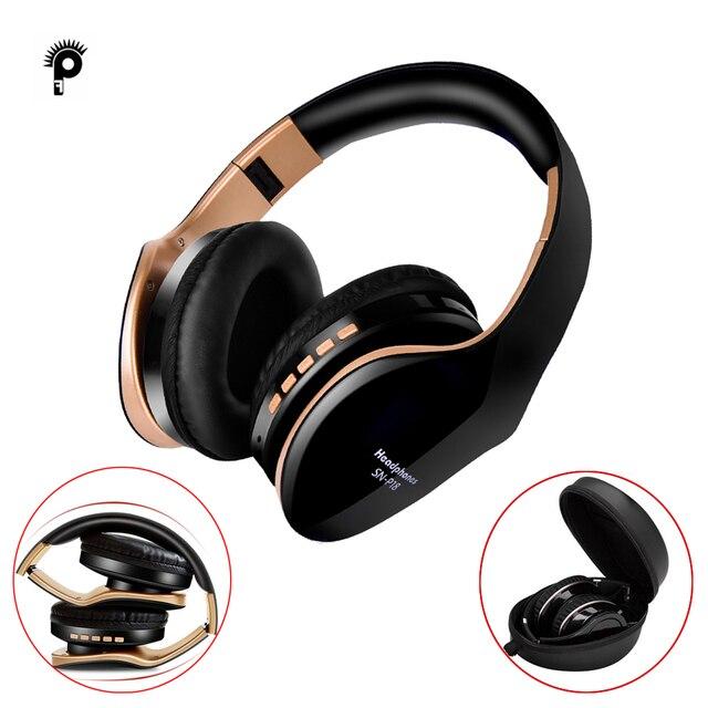 Punnkfunnk ワイヤレスヘッドフォン V5.0 + edr bluetooth ヘッドセット携帯電話 Mp3 折りたたみステレオノイズリダクションゲームイヤホン