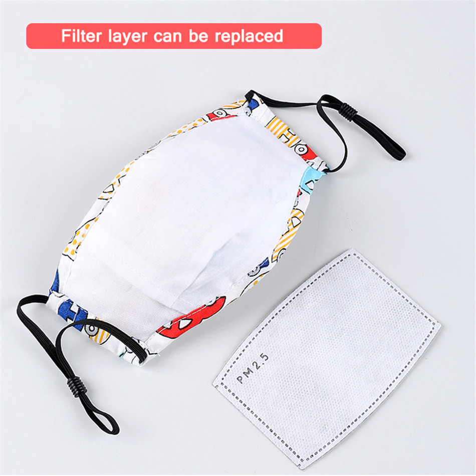 FFP2 Child Mask Folding PM2.5 Filter Air Non Woven KN95 Mask Breath Valve Anti Dust Reusable Respirator Gas Protective Mask