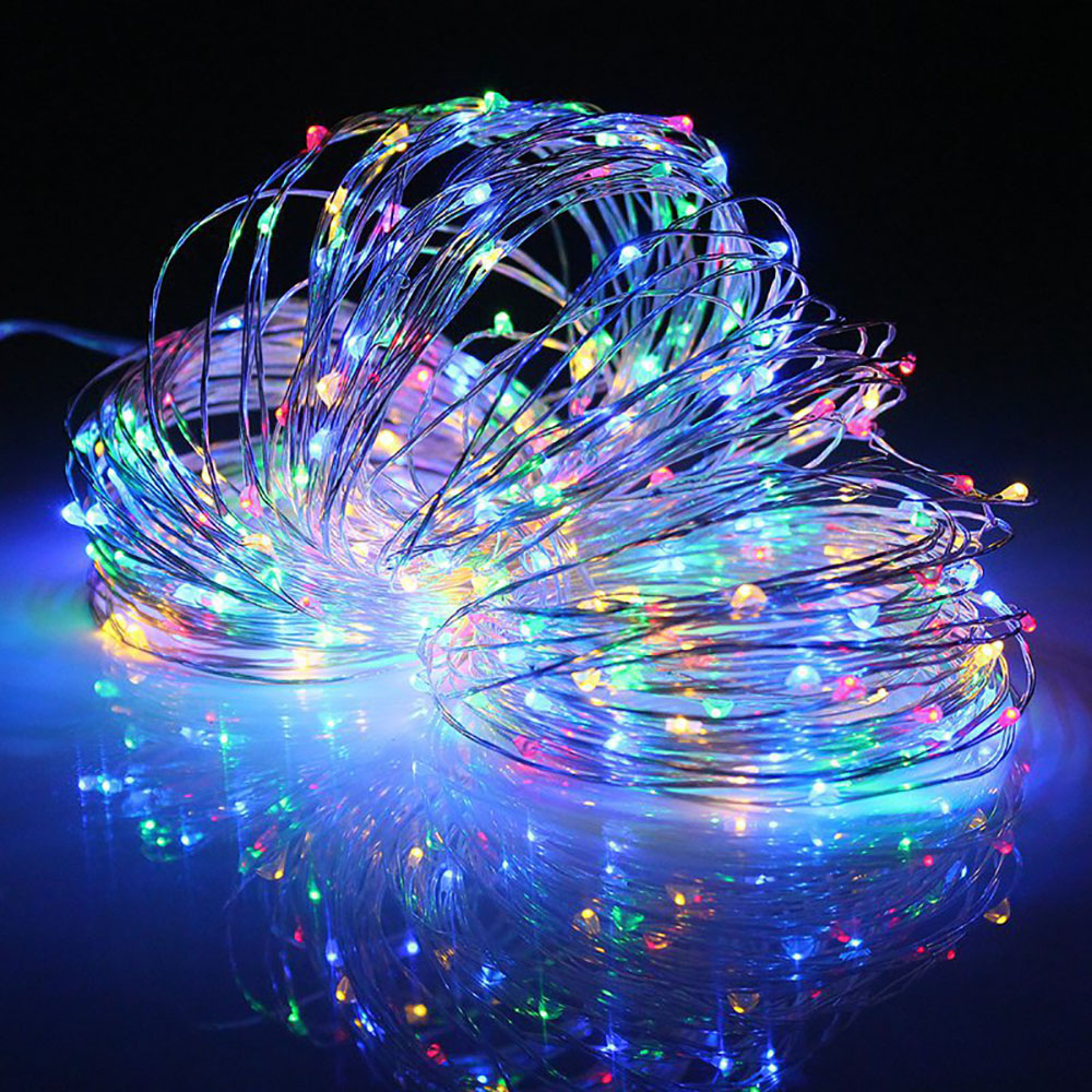 10M Copper Silver Wire USB Battery Case LED String Lights Waterproof Holiday Lighting For Fairy Christmas Party Decoration