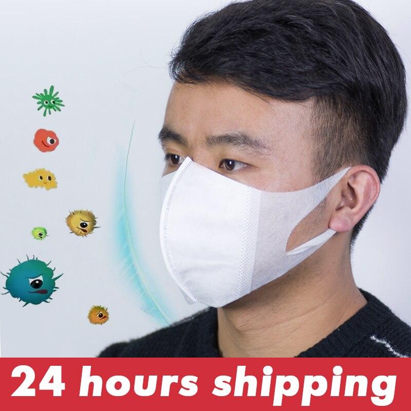 Masques de bouche 3D Anti-poussière bouche-moufle respirant respirateur masques de protection empêchent les masques de bactéries soins de santé jetables