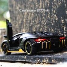 Горячая LP770 1:32 RC автомобиль сплав спортивная модель автомобиля звук светильник супер гоночный автомобиль задний откидной обода сплавочных колес игрушки для детей