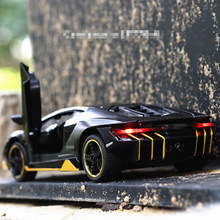 Hot LP770 1:32 Car Alloy Sports Car Model Diecast Sound Light Super Racing Lifting Tail Car Wheels Toys For Children(China)